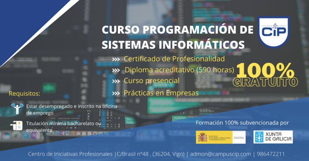 CURSO PROGRAMACIÓN DE SISTEMAS INFORMÁTICOS